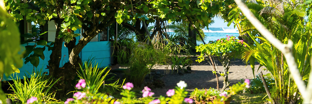 Pension beach side Papara Tahiti
